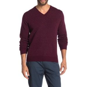 Brooks Brothers Micro Dot Wool Blend Sweater